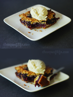 Blueberry Crumble Bars by chompsoflife