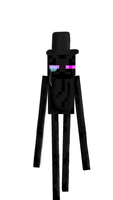 the enderman and his top hat by Th3Stargazer
