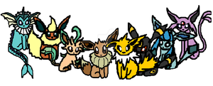 Eeveelutions by Thilany