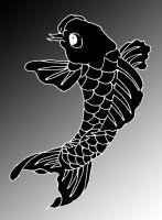 Vector Black Koi by SmoothRaven7