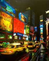 Times Square at Night by Oh-Tea