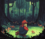 A Curious Mushroom by BearWithGlasses