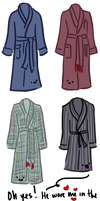 Sherlock's Dressing Gowns on John by celina-tamwood