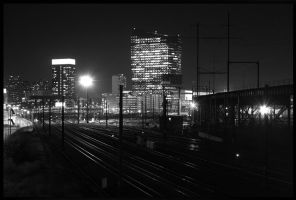 Nighttime Railroad by nanshant