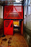 Red Freight Elevator by TheSplitGemini