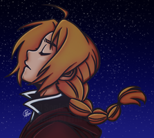 Colored Edward Elric by ErinSoup