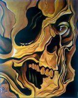 print size twisted skull by eye4art