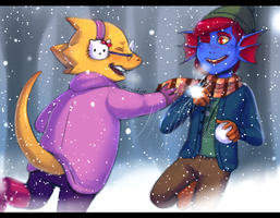 UT - Snowball Fight! (Advent Commission) by Atlas-White