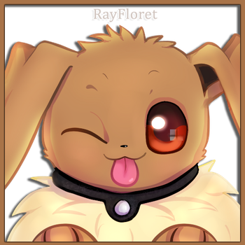 Eevee Wink! by RayFloret
