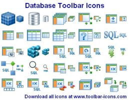Datenbank Toolbar Icons by Ikonod