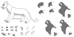 *NEW* Lion Lineart Maker by nycheefruit