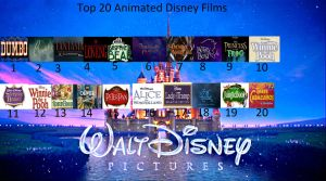 Top 20 animated Disney films by BlazeHeartPanther