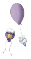 Litwick and Drifloon by Lycandra