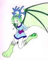 Dragon Faerie gift art by zombiepencil
