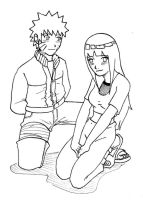 NaruHina, on there knees. by mattwilson83