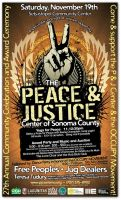 Peace and Justice poster art by zdca