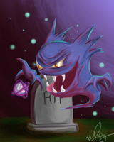 Haunter The Gas Pokemon by SnrChumber