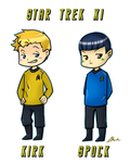 Star Trek - Kirk and Spock by caycowa