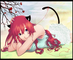 red cotton cat by Yaoumi-ji