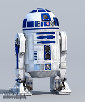 R2D2 - Blender 2.69 by BlindIllusionist