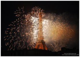 Eiffel Tower on FIRE by Rovanite