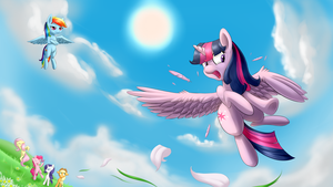 Princess's Flying practice by RenateThePony