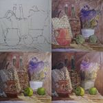 Still life with the basil. Process by Lelek1980