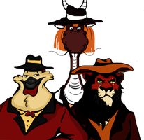 Just Three Old School Guys by roamingtigress