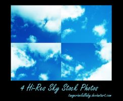 4 Hi-Res Cloud Stock by tangerinelullaby