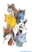 My pack by HowlingWolfSong
