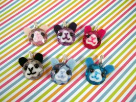 Bunny Sequin Charms by AmiTownCreatures