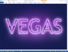 Vegas text effect in Microsoft Word by upiir