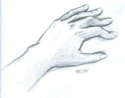 Hand slightly pressed by thi-hoai