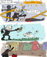 The Witcher 3, doodles 1 by Ayej