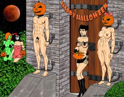 Jack and Jackie O'Lanterns by RedSpider2008