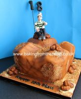 BMX dirt track cake. by 0970jackie
