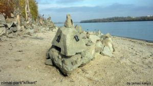 land art stone snake in hungary by tamas kanya by tom-tom1969