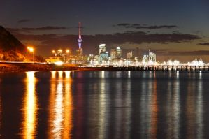 Auckland City at night 2 by MisterDedication