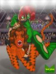 Clover Vs. Tigra by wondermanrules
