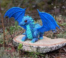 Blue dragon figurine by koshka741