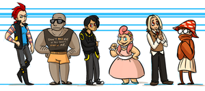 HG Gijinka Height Chart by pettyartist