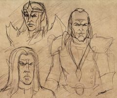 Rival Wizards Rough Sketch by SlayerSyrena