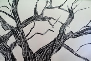 Black and White Patterned Tree by abflabby