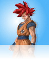 Super Saiyan God Goku (Zenkai Battle Royale) by EarthCenturion
