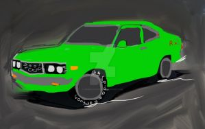 RX3 coupe by Spideecartoon