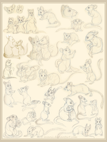 Sketchdump: Of Mice and Rats by Avanii