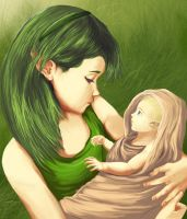 young saria and link by ZaloHero