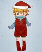 X'MAS Bilbo and little Smaug by patatomato