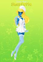 Sailor Comic Smurfette by bloona