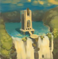 Lake Temple by RozlynnWaltz